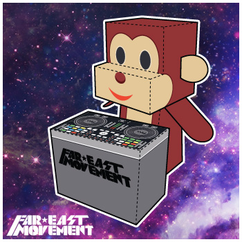 Far East Movement Paper Foldables papercraft paper toy